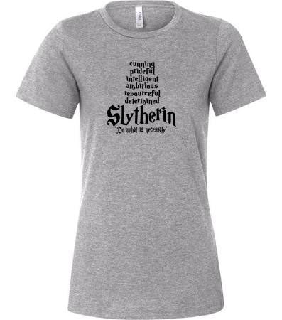 Slytherin House Traits Crew Neck Tee