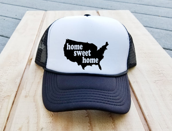 USA Home Sweet Home Trucker Hat