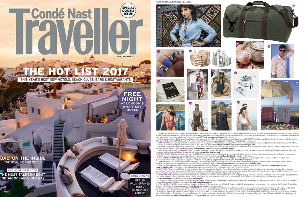 CITIMI Jewelry at Conde Nast Traveller UK July-August 2017