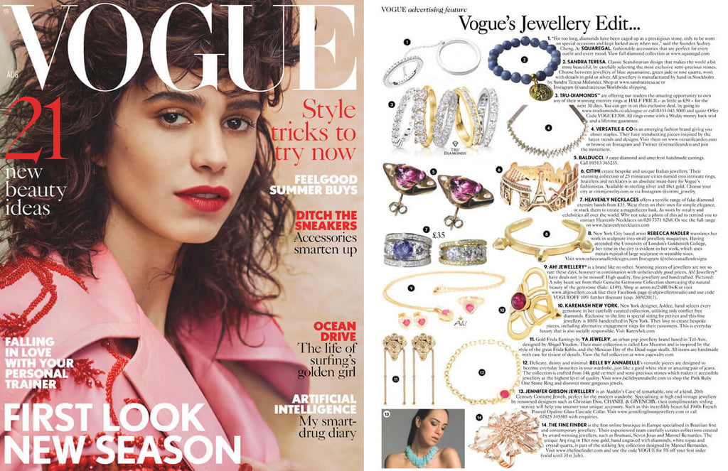 CITIMI Jewelry at Vogue UK August 2017
