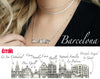 City Necklace Barcelona in 14K/18K Gold