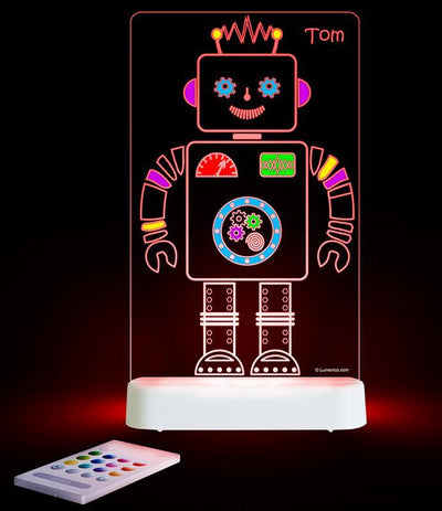 Aloka Aloka LED Colour & Shine Robot Light Dual Powered