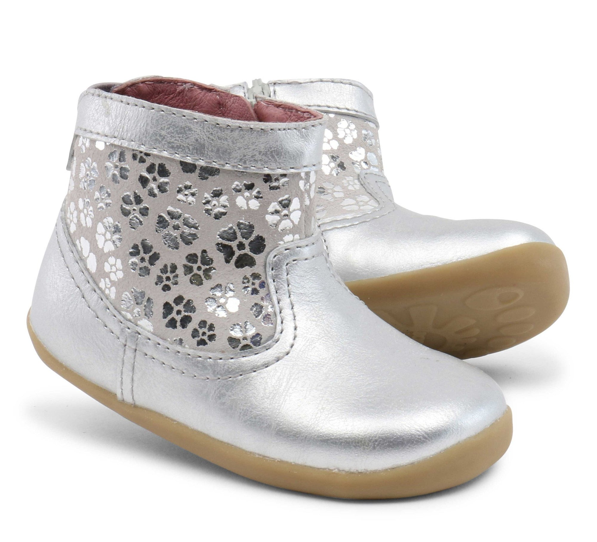 Bobux First Walker Shoes Step Up Gaze Silver Boot