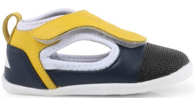 Bobux Baby LIMITED EDITION: Bobux Step Up Spark Sulphur & Navy Open Shoe