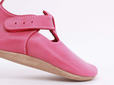 Bobux Bobux Dark Pink Jack and Jill Soft Sole Shoes S