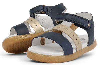 Bobux Bobux iWalk Trinity Sandals Navy + Misty Gold