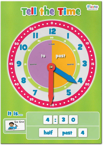 Fiesta Crafts Kids Fiesta Crafts Magnetic Tell The Time
