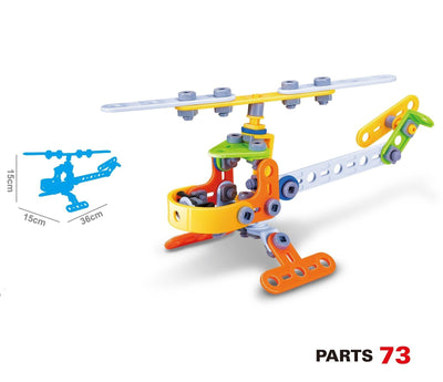 Hanye Hanye Build & Play Helicopter 78 Pieces