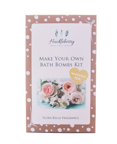 Huckleberry Huckleberry Make Your Own Bath Bomb Kit with Gold Foil in Flora Bella Fragrance