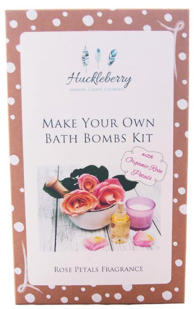 Huckleberry Huckleberry Make Your Own Bath Bomb Kit with Rose Petals
