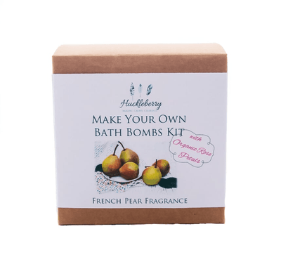 Huckleberry Huckleberry Make Your Own Bath Bomb Kit with Rose Petals in French Pear