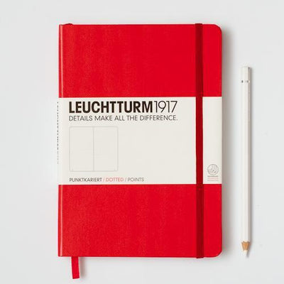 Leuchtturm1917 Leuchtturm1917 Dotted Notebook Medium (A5) Red