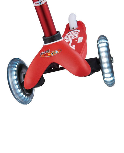 micro® Scooters Australia Mini Micro Deluxe Scooter LED Red