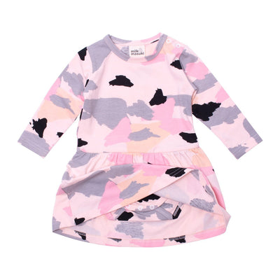Milk & Masuki Milk & Masuki Long Sleeve Bodysuit Dress Colourdrift Meterage