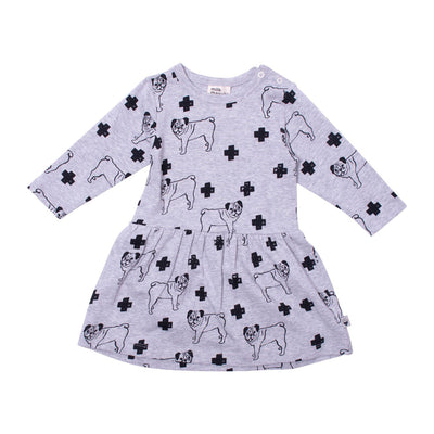 Milk & Masuki Milk & Masuki Long Sleeve Bodysuit Dress Pugs Meterage