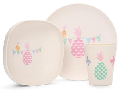Penny Scallan Online Stockist | Bamboo Meal Set Pineapple Bunting | Summer Lane