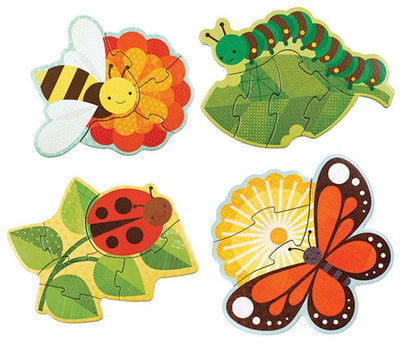 Petit Collage Beginner Puzzle Garden Bugs