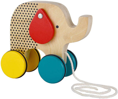 Petit Collage Baby Petit Collage Wooden Elephant Pull Toy