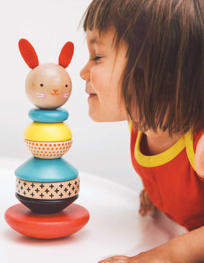 Petit Collage Baby Petit Collage Wooden Stacking Toy Rabbit