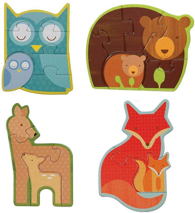 Petit Collage Petit Collage Beginner Puzzle Forest Babies