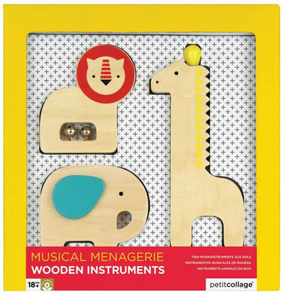 Petit Collage Petit Collage Musical Menagerie Wooden Animal Instruments