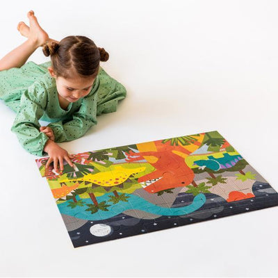 Petit Collage Petit Collage Floor Puzzle Dinosaur Kingdom