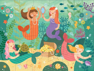 Petit Collage Kids Petit Collage Floor Puzzle Mermaid Friends