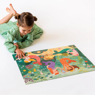 Petit Collage Petit Collage Floor Puzzle Mermaid Friends