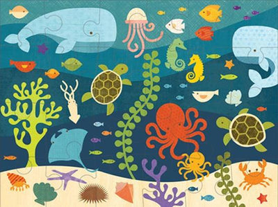 Petit Collage Kids Petit Collage Floor Puzzle Ocean Life