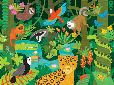 Petit Collage Kids Petit Collage Floor Puzzle Wild Rainforest
