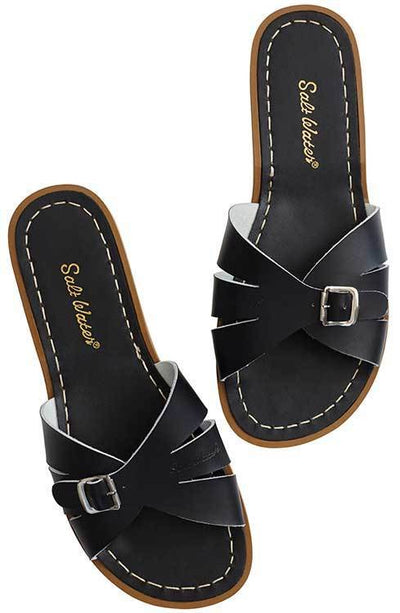 Saltwater Sandals Women's Classic Slides Black