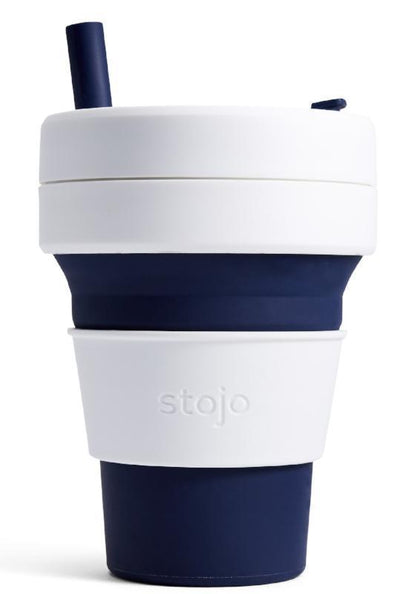 Stojo Stojo Biggie Reusable Collapsible Cup Indigo 470mL