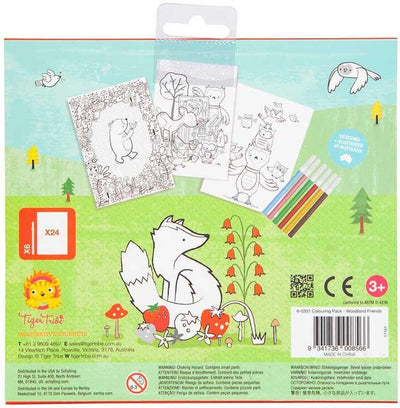 Tiger Tribe Kids Tiger Tribe Colouring Pack Woodland Friends