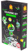 Tiger Tribe Tiger Tribe Neon Colouring Set Outer Space