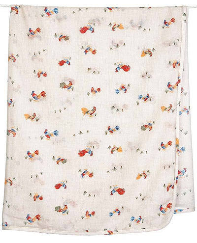 Toshi Toshi Muslin Wrap Roosters