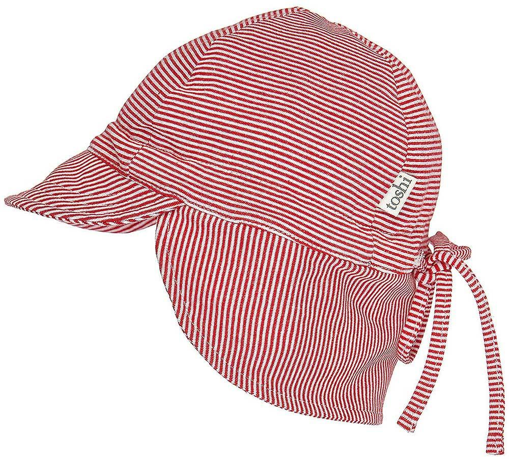 8ee8bf3725d Toshi Baby Flap Cap in Tomato - Baby Hats - Summer Lane