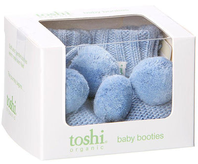 Toshi Marley Organic Baby Booties in Dusk | Buy Online at Summer Lane