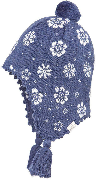 Toshi Toshi Earmuff Beanie Floral Navy