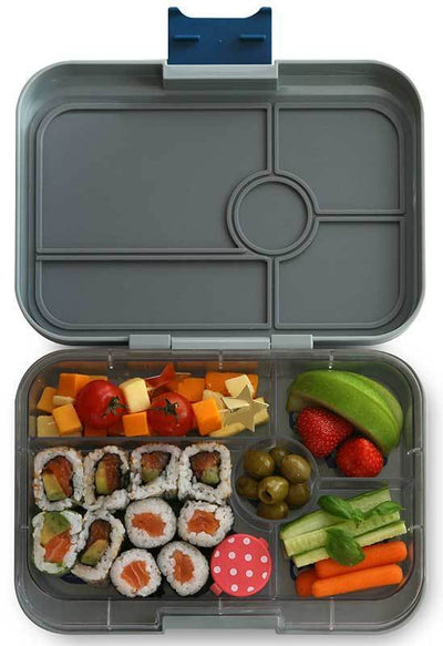 Yumbox Tapas | Leakproof Lunchbox for Kids & Adults | Summer Lane | Flat Iron Grey
