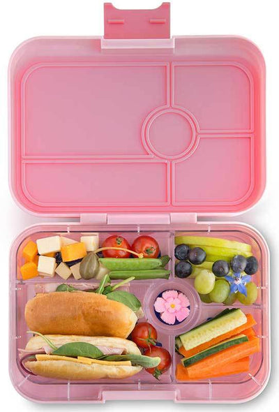 Yumbox Tapas | Leakproof Lunchbox for Kids & Adults | Summer Lane | Amalfi Pink