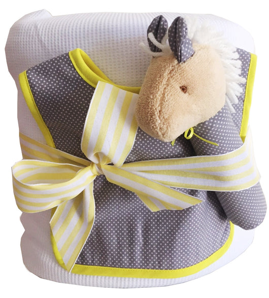 Bouncing Baby Neutral Newborn Nappy Cake