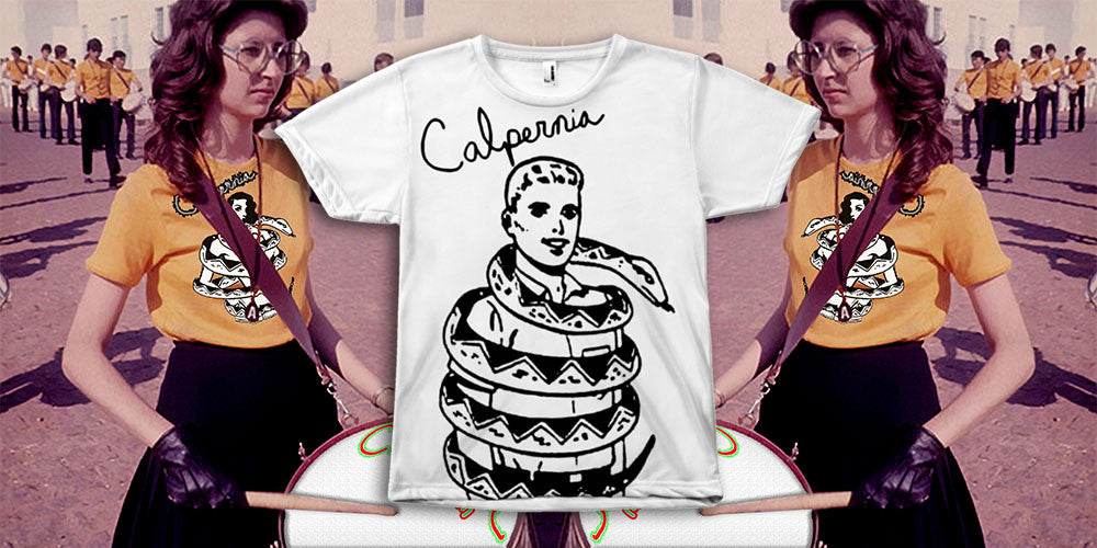 Calpernia Addams Art Tees T-Shirts Lyrics Lyric Hand Written Hand Drawn Concert Musician Music Snake Woman Girl Boa Constrictor Anaconda Squeeze Funny Comic Vintage Custom Comic Drawn