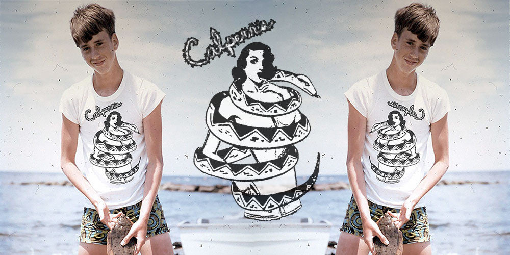 Calpernia Addams Art Tees T-Shirts Lyrics Lyric Hand Written Hand Drawn Concert Musician Music Snake Woman Girl Boa Constrictor Anaconda Squeeze Funny Comic Vintage