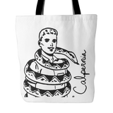 Calpernia Art Tote - Many Designs to Choose From! - Calpernia Addams Music Art Tees T-Shirts Shirt Dress Dresses Totes Mugs Tote Mug Lyrics Lyric Hand Written Hand Drawn Hand Written Concert Musician Snake Man Man's Mans Men's Mens Woman Women's Women's Woman's Woman's Girl Girls Girl's Boa Constrictor Anaconda Squeeze Funny Comic Vintage Original Unique