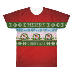 """Ugly Christmas Sweater"" Original Artwork All-Over Printed T-Shirt"