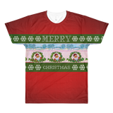 """Ugly Christmas Sweater"" Original Artwork All-Over Printed T-Shirt - Calpernia Addams Music Art Tees T-Shirts Shirt Dress Dresses Totes Mugs Tote Mug Lyrics Lyric Hand Written Hand Drawn Hand Written Concert Musician Snake Man Man's Mans Men's Mens Woman Women's Women's Woman's Woman's Girl Girls Girl's Boa Constrictor Anaconda Squeeze Funny Comic Vintage Original Unique"