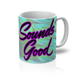 Calpernia Graphic Mug - Sounds Good (All Over Print) - Calpernia Addams Music Art Tees T-Shirts Shirt Dress Dresses Totes Mugs Tote Mug Lyrics Lyric Hand Written Hand Drawn Hand Written Concert Musician Snake Man Man's Mans Men's Mens Woman Women's Women's Woman's Woman's Girl Girls Girl's Boa Constrictor Anaconda Squeeze Funny Comic Vintage Original Unique