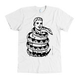 Calpernia Graphic T Shirt - SNAKE! (Black Print on Light Colors) - Calpernia Addams Music Art Tees T-Shirts Shirt Dress Dresses Totes Mugs Tote Mug Lyrics Lyric Hand Written Hand Drawn Hand Written Concert Musician Snake Man Man's Mans Men's Mens Woman Women's Women's Woman's Woman's Girl Girls Girl's Boa Constrictor Anaconda Squeeze Funny Comic Vintage Original Unique