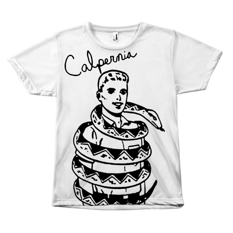 Calpernia Graphic T Shirt  - SNAKE! (All Over Print) - Calpernia Addams Music Art Tees T-Shirts Shirt Dress Dresses Totes Mugs Tote Mug Lyrics Lyric Hand Written Hand Drawn Hand Written Concert Musician Snake Man Man's Mans Men's Mens Woman Women's Women's Woman's Woman's Girl Girls Girl's Boa Constrictor Anaconda Squeeze Funny Comic Vintage Original Unique