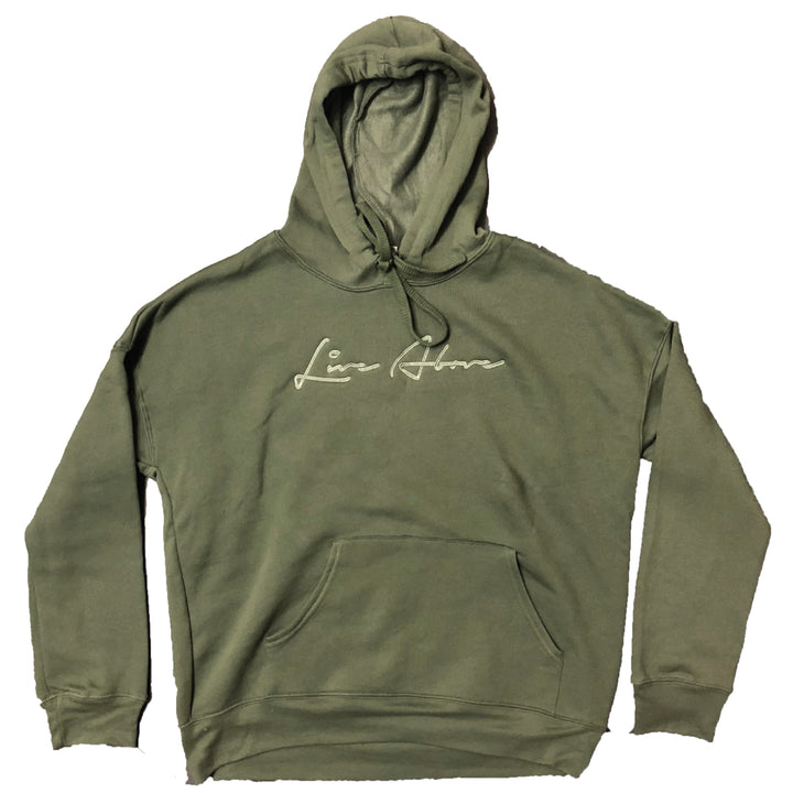 Olive Live Above Signature Hoodie